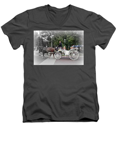 Carriage Ride Into Yesteryear Men's V-Neck T-Shirt