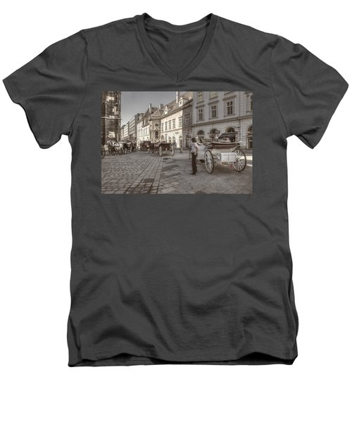Carriages Back To Stephanplatz Men's V-Neck T-Shirt