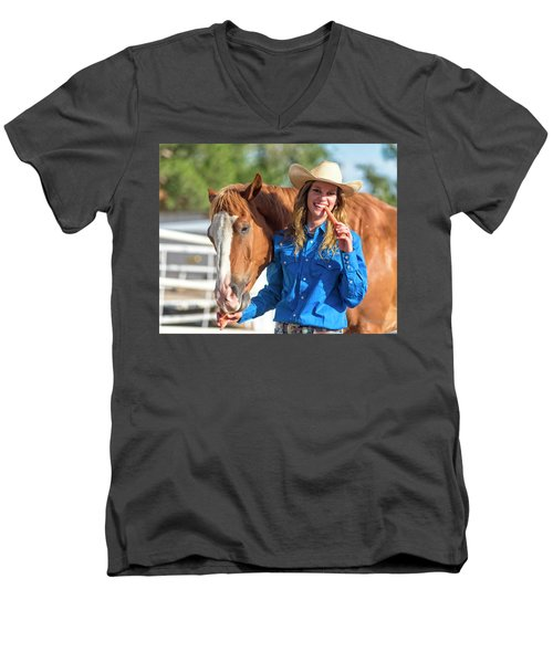 Carrots,cowgirls And Horses  Men's V-Neck T-Shirt