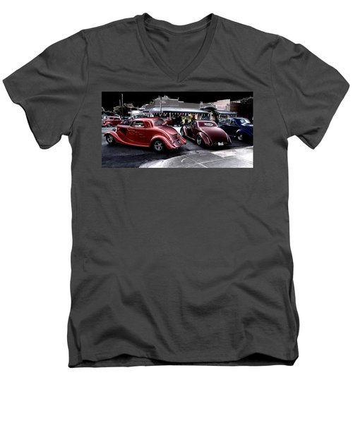 Cars On The Strip Men's V-Neck T-Shirt