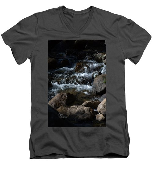 Men's V-Neck T-Shirt featuring the photograph Carson River by Lynn Bawden