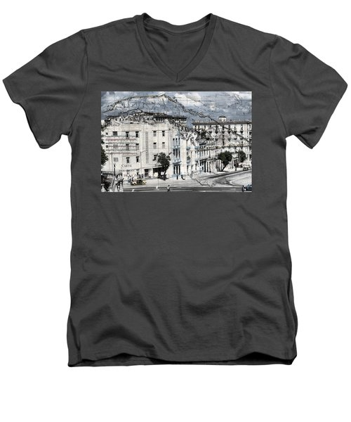 Carte Isle De Cuba Men's V-Neck T-Shirt