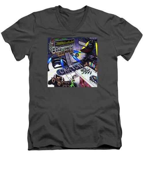Carton Album Cover Artwork Front Men's V-Neck T-Shirt by Richie Montgomery