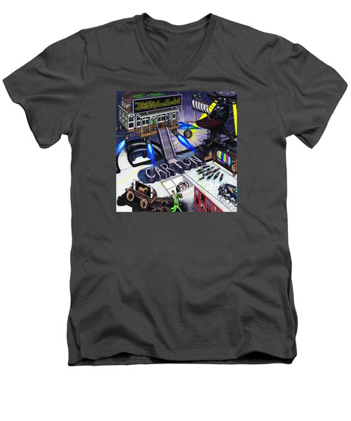 Carton Album Cover Artwork Front Men's V-Neck T-Shirt