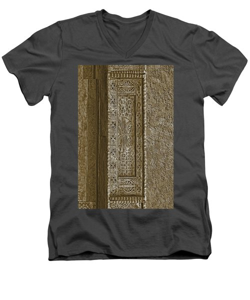 Men's V-Neck T-Shirt featuring the photograph Carving - 5 by Nikolyn McDonald