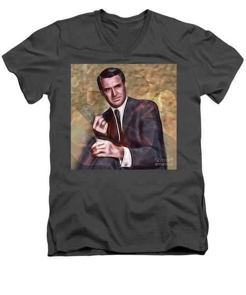 Cary Grant - Square Version Men's V-Neck T-Shirt