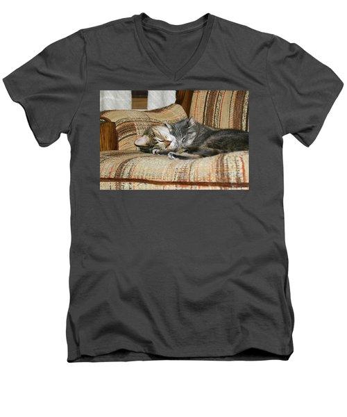 Cas-3 Men's V-Neck T-Shirt