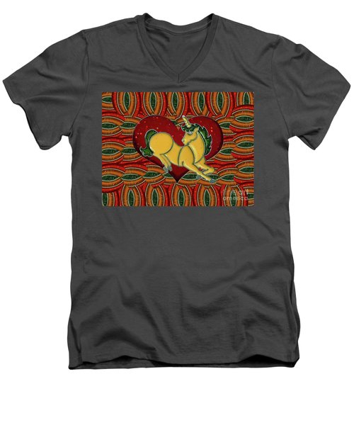 Casablanca Unicorn Dreams Men's V-Neck T-Shirt