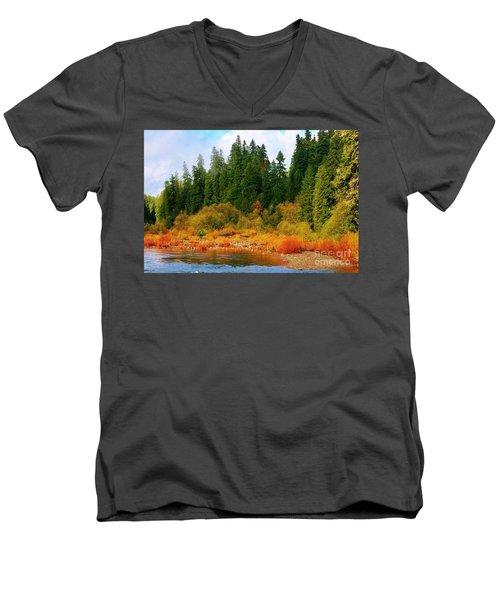 Cascade Autumn Men's V-Neck T-Shirt