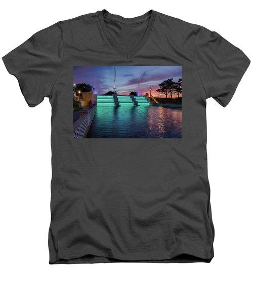 Cascade Falls Jackson Mi 1 Men's V-Neck T-Shirt