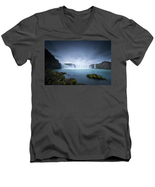 Cascade Of The Gods Men's V-Neck T-Shirt