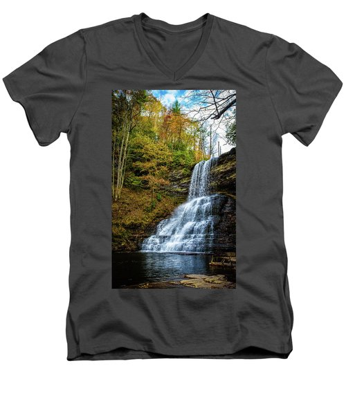 Cascades Lower Falls Men's V-Neck T-Shirt