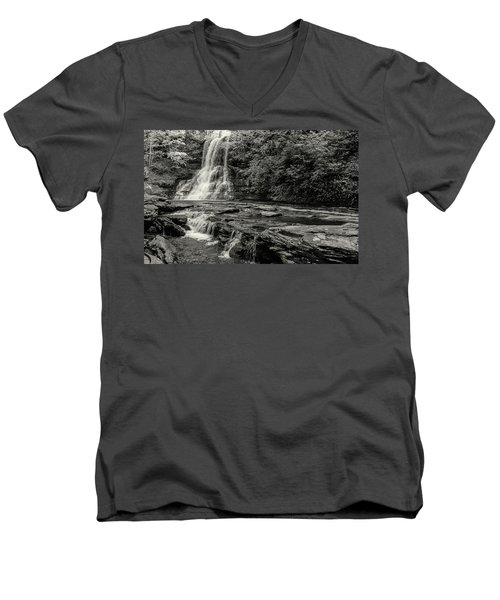 Cascades Waterfall Men's V-Neck T-Shirt