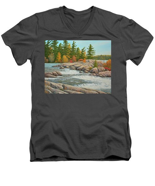 Cascading Flow Men's V-Neck T-Shirt