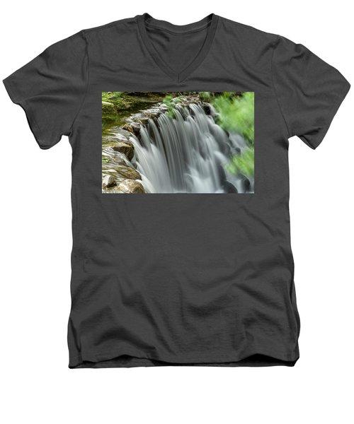 Cascading Water Men's V-Neck T-Shirt