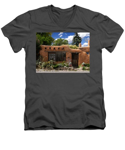 Casita De Santa Fe Men's V-Neck T-Shirt