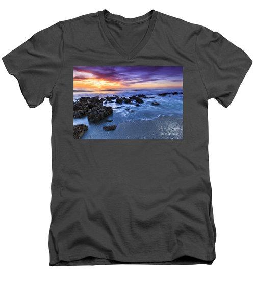 Casperson Beach Sunset 2 Men's V-Neck T-Shirt