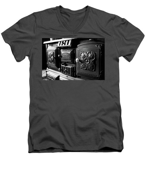 Men's V-Neck T-Shirt featuring the photograph Cast Iron Character by Greg Fortier