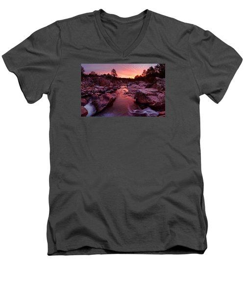 Caster River Shutins Men's V-Neck T-Shirt by Robert Charity