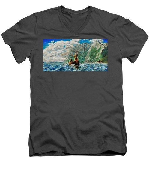 Casting Of The Net Men's V-Neck T-Shirt