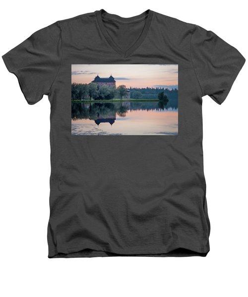 Castle After The Sunset Men's V-Neck T-Shirt by Teemu Tretjakov