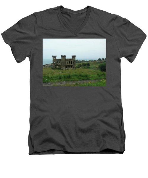 Castle Catania Sicily Men's V-Neck T-Shirt