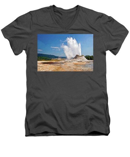 Castle Geyser Men's V-Neck T-Shirt
