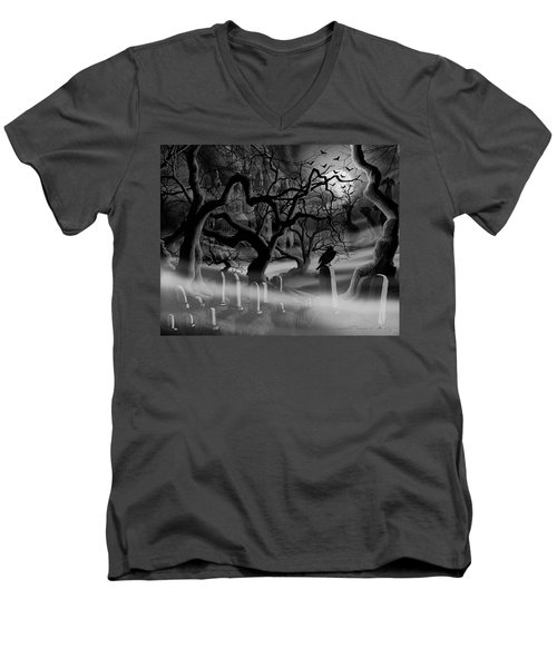 Castle Graveyard I Men's V-Neck T-Shirt