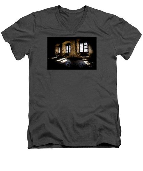 Men's V-Neck T-Shirt featuring the photograph Castle Light by Jason Smith