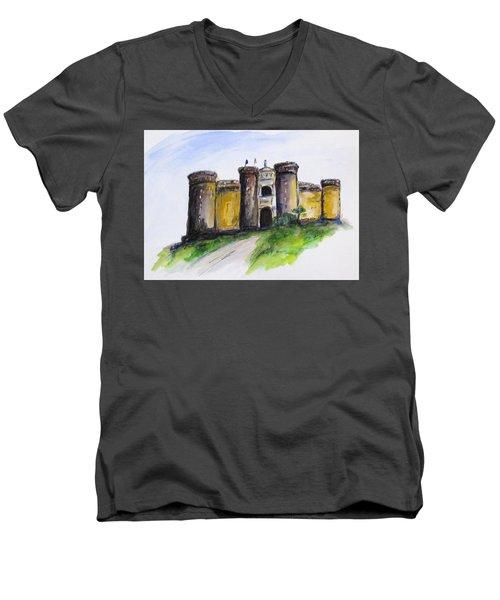 Castle Nuovo, Napoli Men's V-Neck T-Shirt