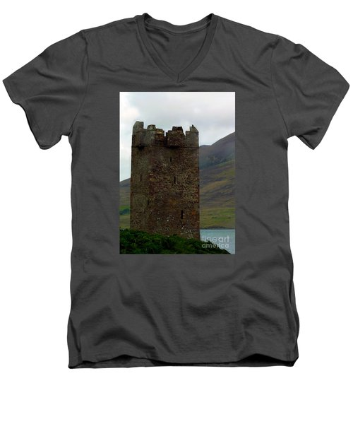 Castle Of The Pirate Queen Men's V-Neck T-Shirt by Patricia Griffin Brett