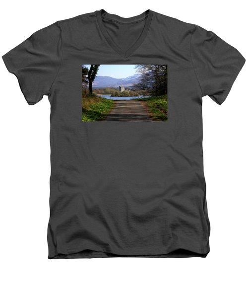 Castle On The Lakes Men's V-Neck T-Shirt by Aidan Moran