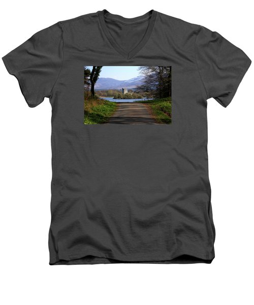 Castle On The Lakes Men's V-Neck T-Shirt