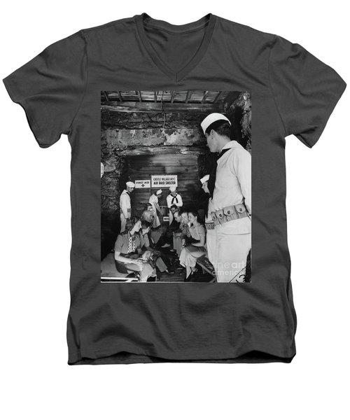 Castle Village Air Raid Shelter Men's V-Neck T-Shirt