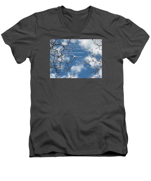 Castles In The Air Men's V-Neck T-Shirt by Deborah Dendler