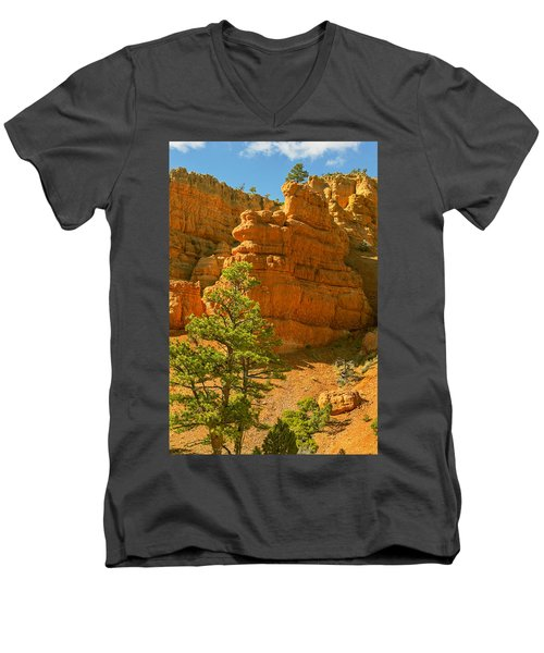 Men's V-Neck T-Shirt featuring the photograph Casto Canyon by Peter J Sucy