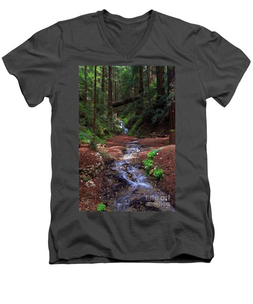 Castro Canyon In Big Sur Men's V-Neck T-Shirt