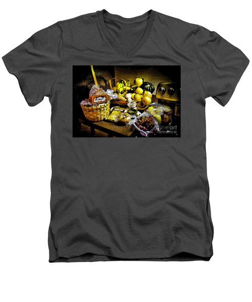 Men's V-Neck T-Shirt featuring the photograph Casual Affluence by Tom Cameron