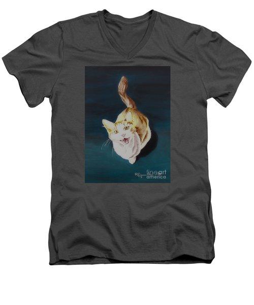 Cat -2 Men's V-Neck T-Shirt