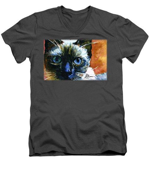 Cat Eyes 13 Shirt Men's V-Neck T-Shirt