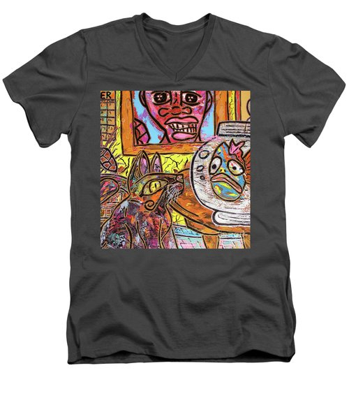 Cat Fish Men's V-Neck T-Shirt