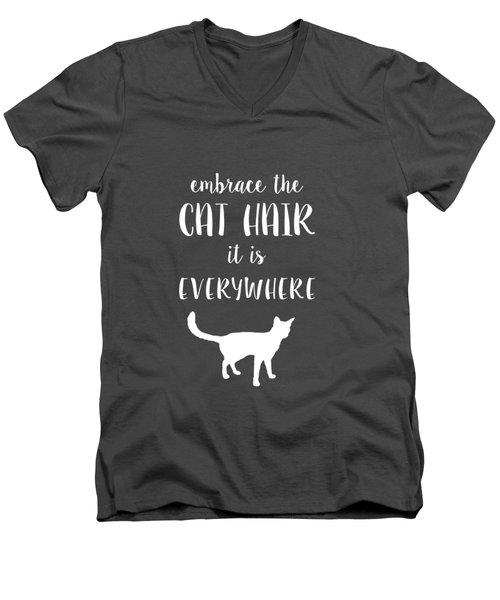 Cat Hair Men's V-Neck T-Shirt