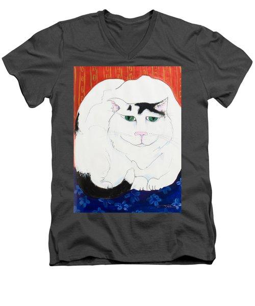 Cat II - Cat Dozing Off Men's V-Neck T-Shirt
