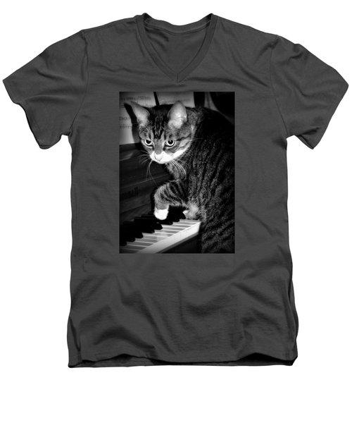 Cat Jammer Men's V-Neck T-Shirt