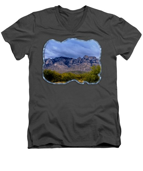 Catalina Mountains P1 Men's V-Neck T-Shirt by Mark Myhaver