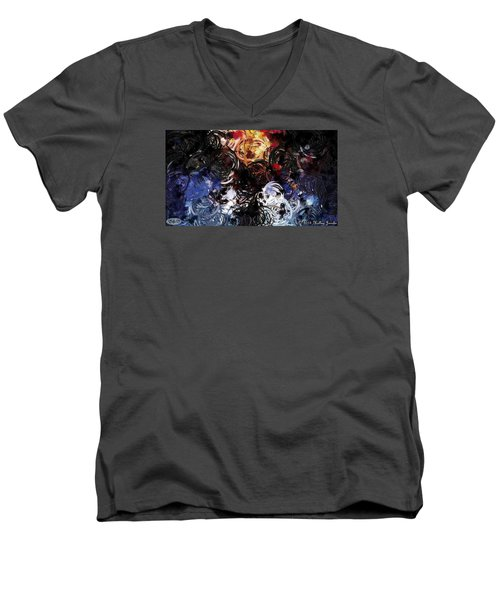 Catalyst Men's V-Neck T-Shirt by Holley Jacobs