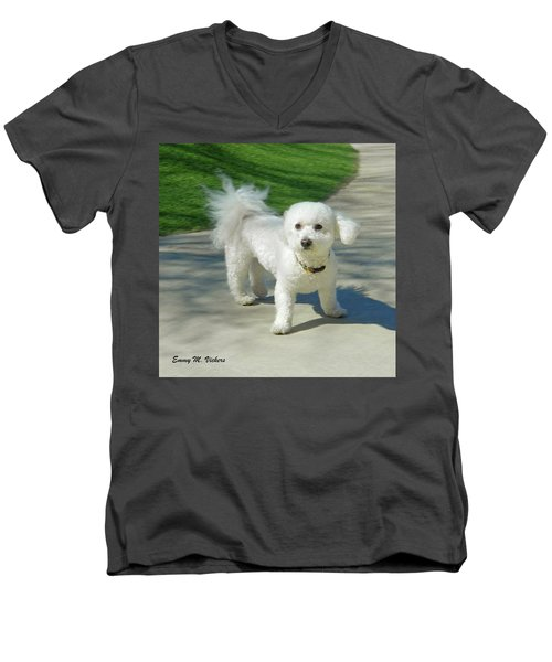 Catch Me If You Can Mommy Men's V-Neck T-Shirt by Emmy Marie Vickers