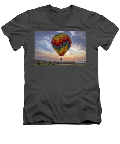 Men's V-Neck T-Shirt featuring the photograph Catch The Breeze by Mitch Shindelbower