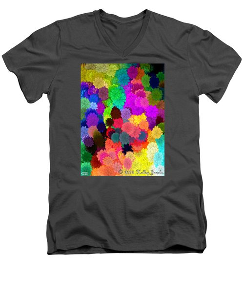 Catcha Little Groove Men's V-Neck T-Shirt by Holley Jacobs