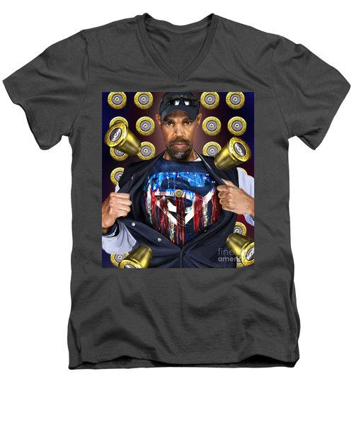 Catching Bullets They Think We Supermen Because Still We Rise Men's V-Neck T-Shirt